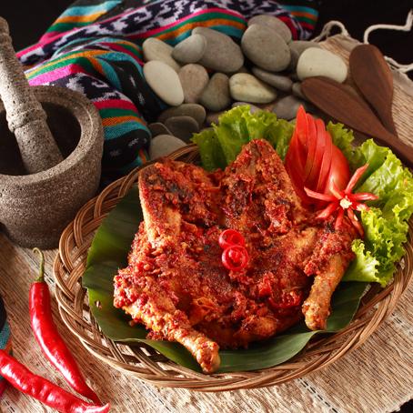 ayam panggang merah
